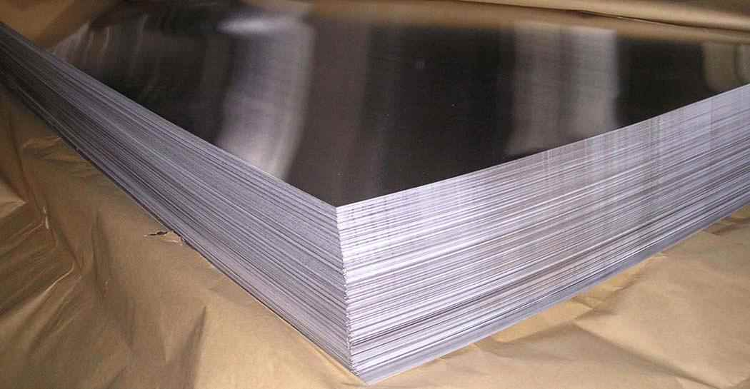smooth aluminum plate
