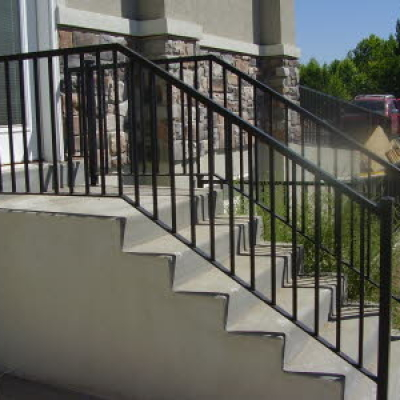 exterior metal railing fabrication