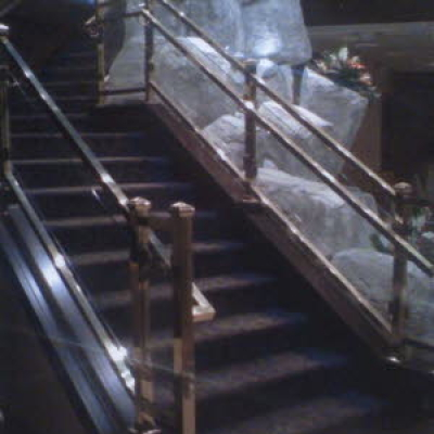 interior metal railing fabrication