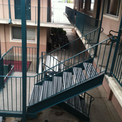 metal railing apartments