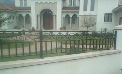 decorative exterior metal railing