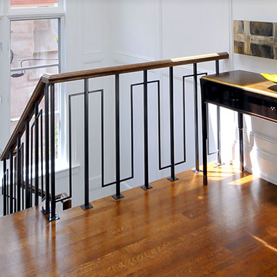 indoor metal railing