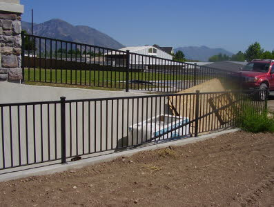 outdoor metal fence