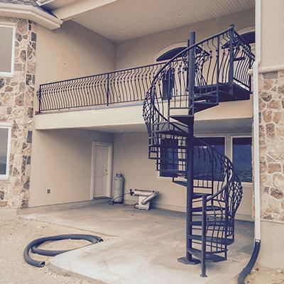 spiral metal staircase railing