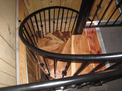 metal sprial staircase railing
