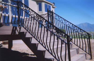 intricate outdoor railing fabrication