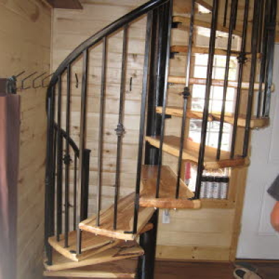 metal spiral staircase railing fabrication