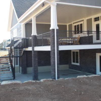straight railing